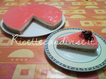 Ricetta Cheesecake (senza cottura) di Teresa Mastandrea