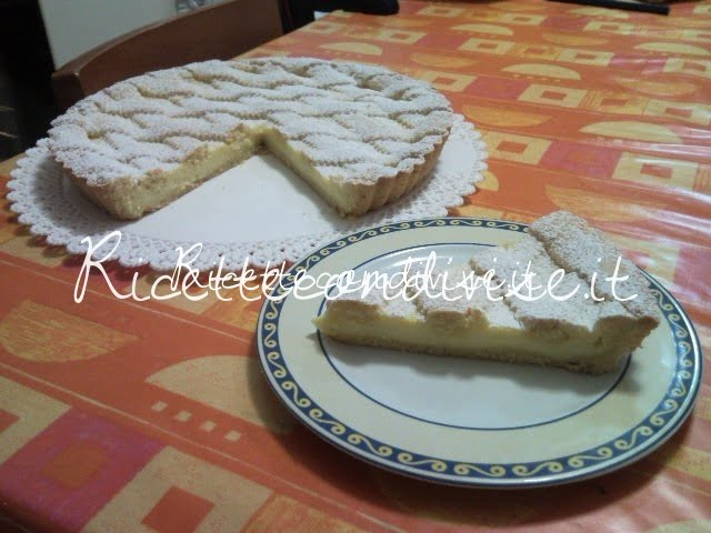 Ricetta crostata alla crema pasticcera di Teresa Mastandrea