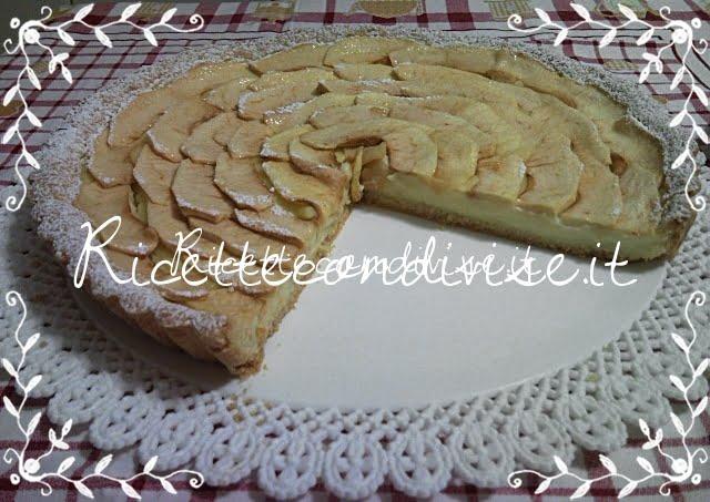 Particolare crostata di mele e crema pasticcera di Teresa Mastandrea