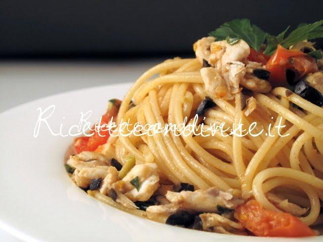 Primo piano spaghetti branzino di Manlio Midori
