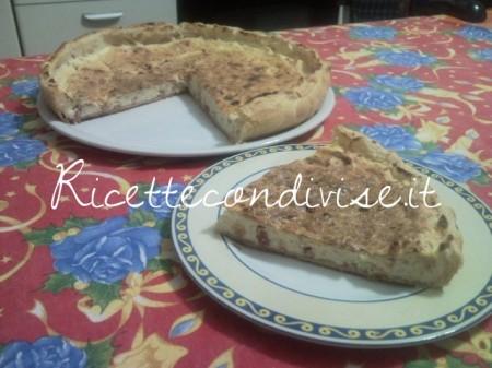 Ricetta Quiche di ricotta, prosciutto cotto e pancetta di Teresa Mastandrea