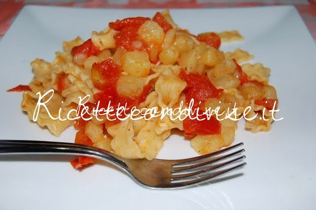 Reginette con patate e pomodorini di Daniela