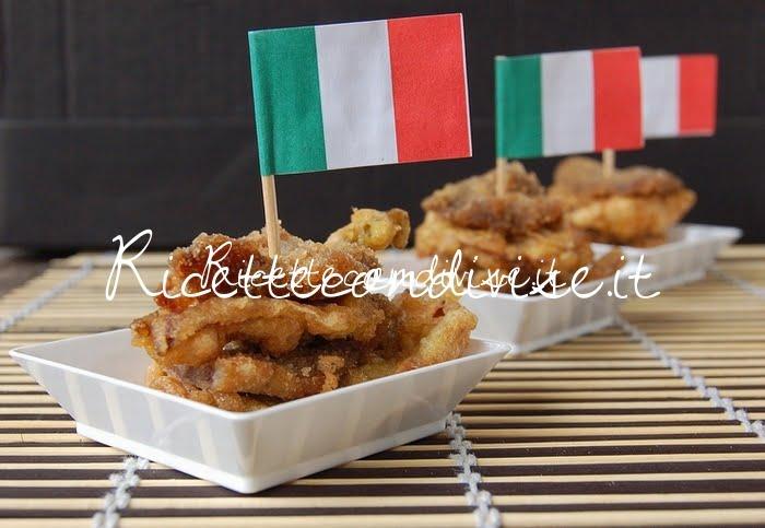 Fettine impanate e fritte e carciofi fritti di Dany - Ideericette