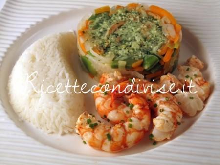 Ricetta Gamberoni con verdure e riso basmati di Manlio Midori