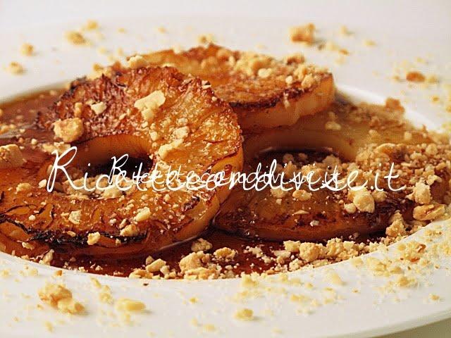 Particolare ananas caramellato alla Tati di Manlio Midori