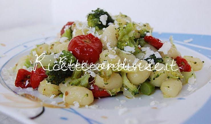 Particolare chicche di patata con broccoli ciliegini semisecchi e ricotta salata di Dany - Ideericette