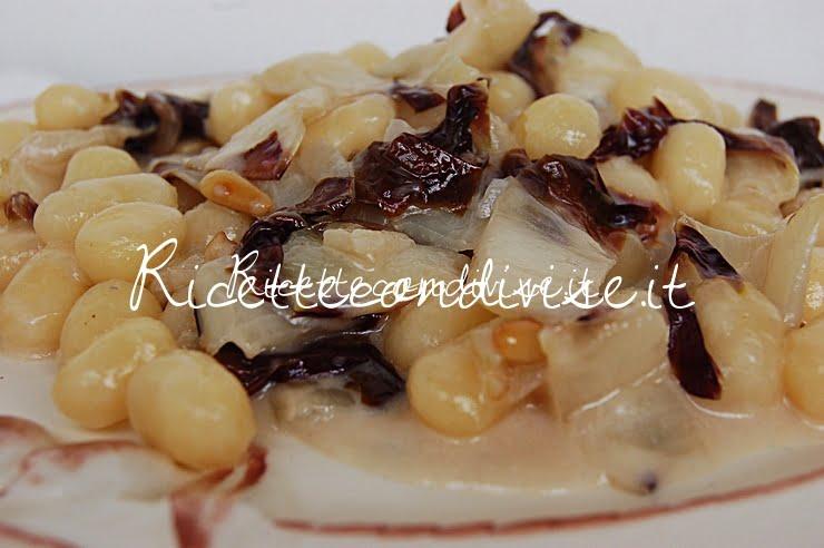 Particolare chicche di patata con radicchio trevigiano pinoli e gorgonzola di Dany - Ideericette