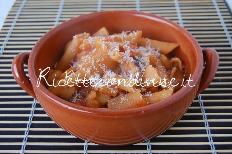 Pasta e patate con formaggio di Giovanna