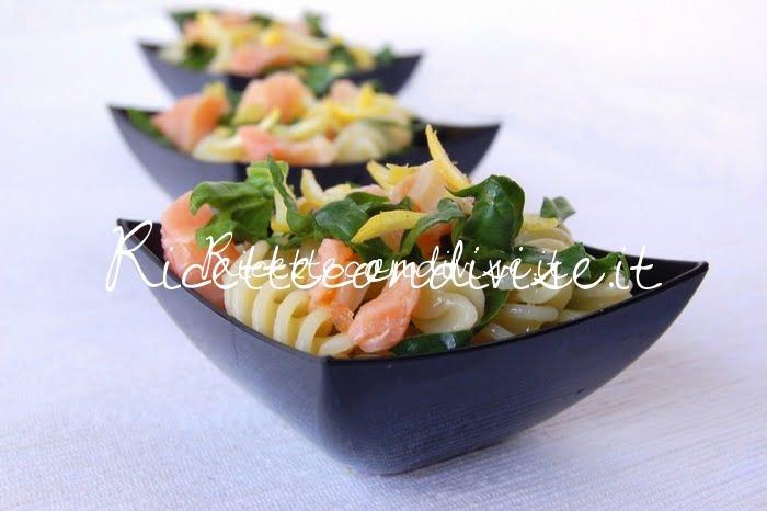 Primo piano Fusilli salmone e spinaci di Dany - Ideericette