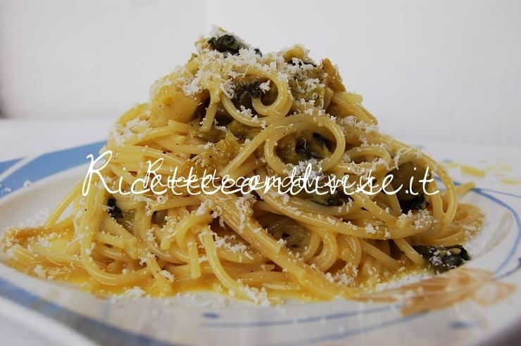 Spaghetti vegetariani alla carbonara di verza con formaggio di Dany - Ideericette