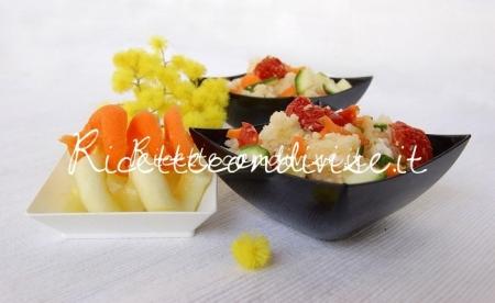 Ricetta Cous cous con feta, carote, zucchine e ciliegini semisecchi Agromonte di Dany – Ideericette