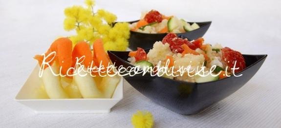 Particolare cous cous con feta, carote, zucchine e ciliegini semisecchi di Dany - Ideericette