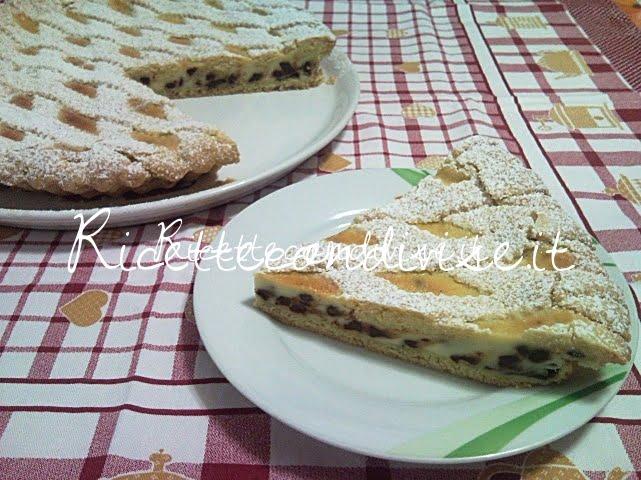 Particolare crostata ricotta e gocce di cioccolato di Teresa Mastandrea