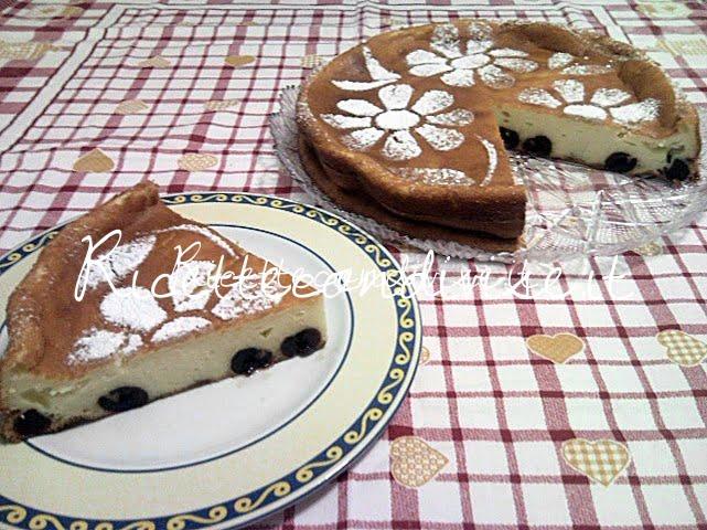 Particolare torta ricotta e amarene di Teresa Mastandrea