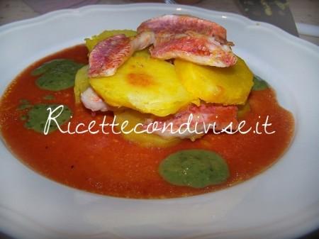 Ricetta Millefoglie di triglie e patate di Claudio Rega