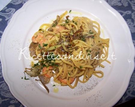 Strangozzi-carciofi-e-gamberetti-di-Claudio-Rega-450x357