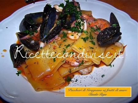 Ricetta Paccheri di Gragnano ai frutti di mare di Claudio Rega