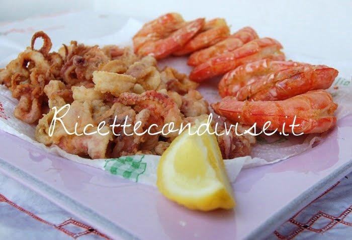 Pimo piano fritto misto di calamari e gamberoni di Giovanna