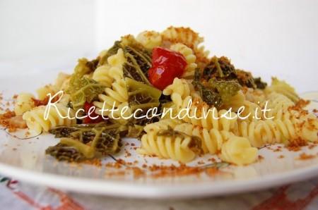 Ricetta Fusilli con verza, pancetta, ciliegini semisecchi Agromonte e pangrattato tostato di Dany – Ideericette