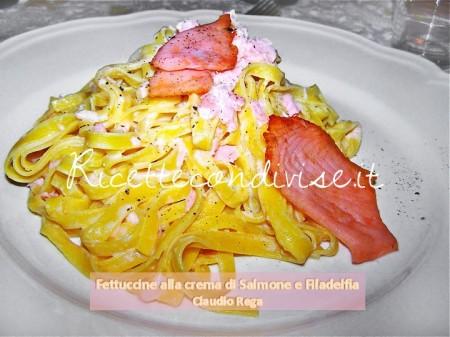 Ricetta Fettuccine alla crema di salmone e philadelphia di Claudio Rega
