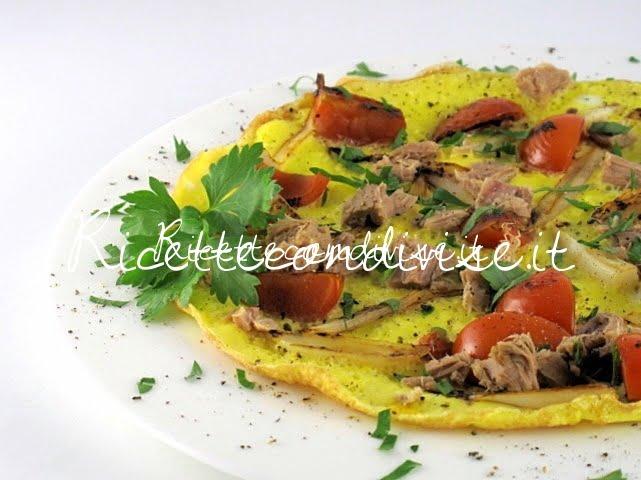 Particolare frittata con pomodorini, cipollotti e tonno di Manlio Midori