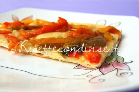 Ricetta Pizza bianca con peperoni arrostiti di Giovanna