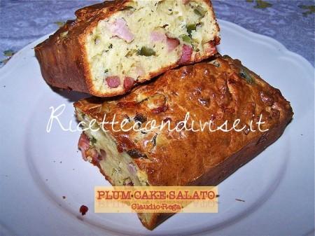 Ricetta Plum Cake salato di Claudio Rega