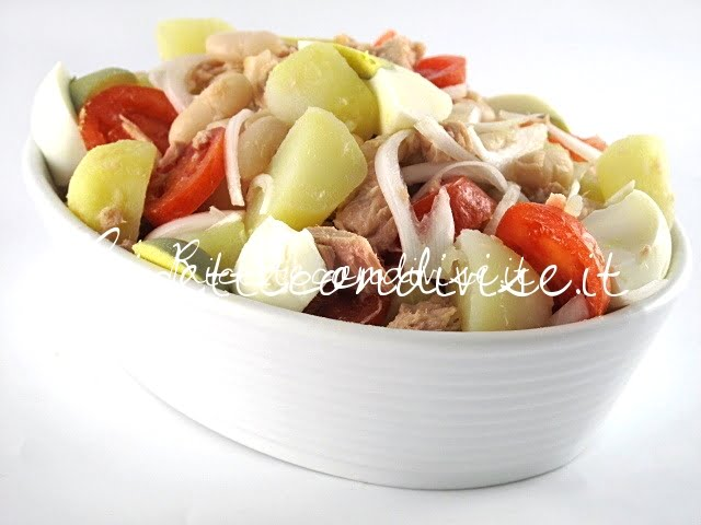 Primo piano insalata di patate di Manilo Midori