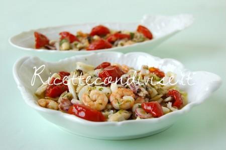 Ricetta Insalata di mare con cipolla e pomodorini ciliegini semisecchi Agromonte di Giovanna