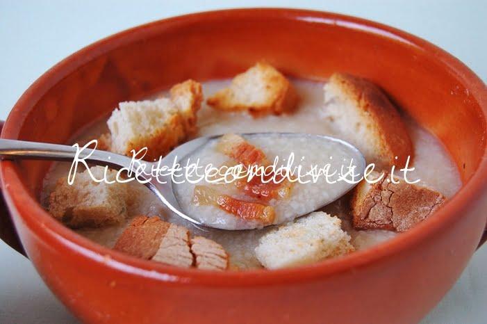 Particolare trahana in brodo con pancetta di Giovanna