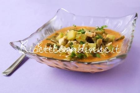 Ricetta Zuppa di fagiolini, zucchine e surimi in brodetto al sapore di granchio di Dany – Ideericette