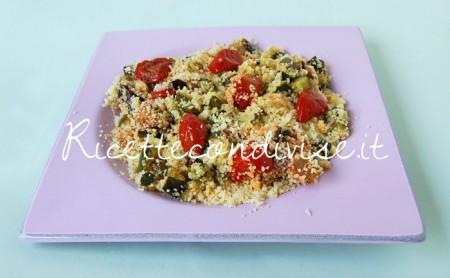 Ricetta Cous cous con melanzane, zucchine e ciliegini semisecchi Agromonte di Dany – Ideericette
