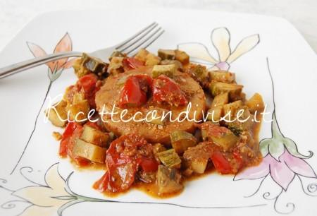 Cuori-di-merluzzo-con-zucchine-pomodorini-e-pesto-di-basilico-e-pomodorini-alcubo3-di-Dany-Ideericette-450x306