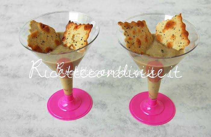 Particolare crema di cetrioli e pasta di granchio con sfoglie croccanti al forno di Dany - Ideericette