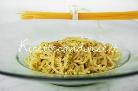 Particolare-spaghetti-alla-carbonara-con-crema-di-asparagi-Agromonte-di-Dany-Ideericette-450x298