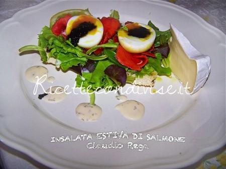 Ricetta insalata di salmone  estiva di Claudio Rega