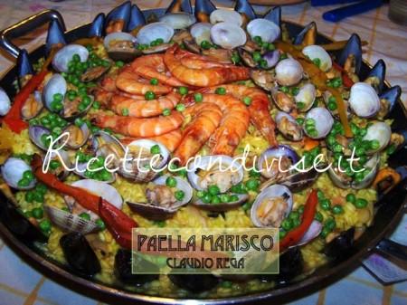 Ricetta paella marisco di Claudio Rega