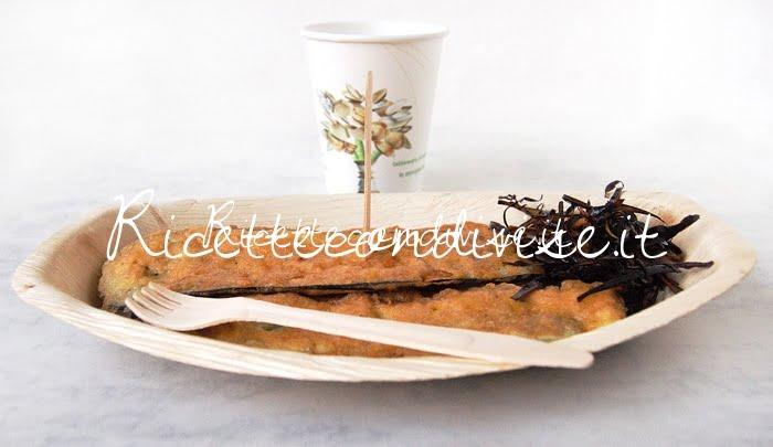Presentazione Melanzane indorate e fritte di Giovanna