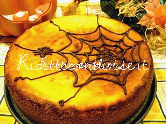 Cheesecake di Halloween alla zucca con ragnetto di Susi