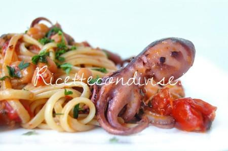Ricetta Linguine con moscardini, ceci e pomodorini pachino di Giovanna