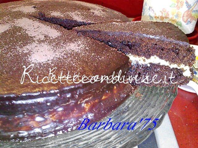 Torta cioccolatosa con crema di burro al caffè di Barbara Casini