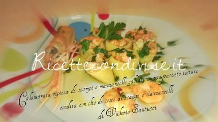 Calamarata-ripiena-di-scampi-e-mazzancolle-saltati-in-pangrattato-tostato-di-Valerio-Santucci-450x253