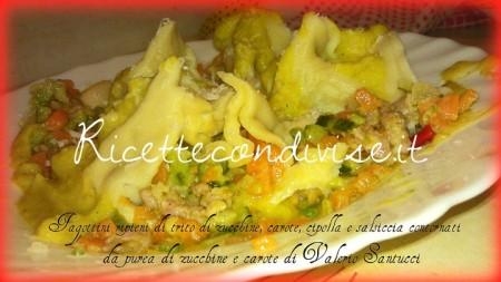 Particolare-fagottini-ripieni-di-trito-di-zucchine-carote-cipolla-e-salsiccia-con-contorno-di-pure-di-zucchine-e-carote-di-ValerioSantucci-450x253