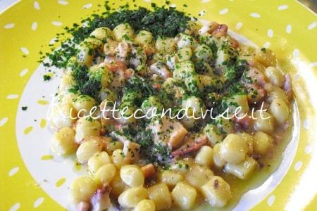 Ricetta Gnocchetti di patate con polpo di Maurizio Roberto Della Torre
