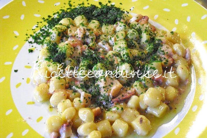 Gnocchetti di patate con polpo di Maurizio Roberto Della Torre