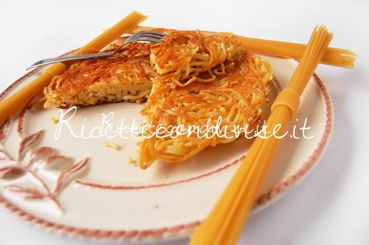 Primo piano frittata di spaghetti di Dany - Ideericette
