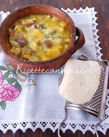 Ricetta Zuppa di polenta con funghi e ricotta salata di Dany – Ideericette