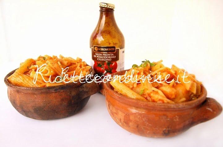 Primo piano Pasta e cavolfiore con salsa pronta di ciliegino di Dany - Ideericette