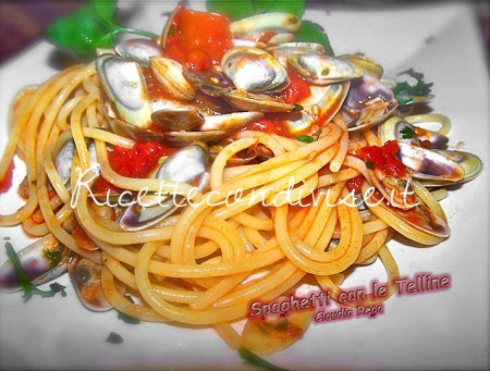 Ricetta Spaghetti con le Telline di Claudio Rega