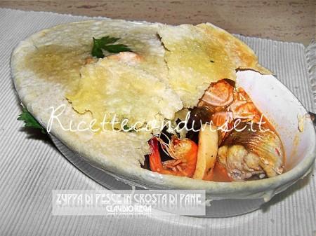 Ricetta Zuppa di pesce in crosta di pane di Claudio Rega